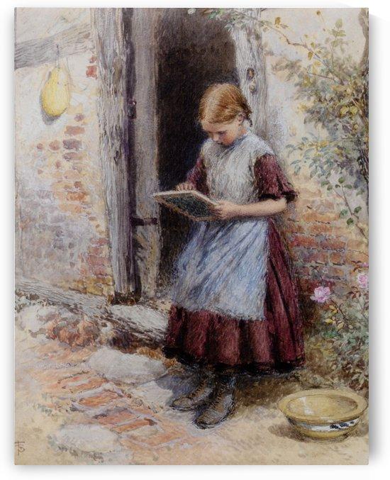 A school girl by Myles Birket Foster