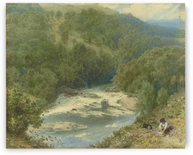 On the River Spean, Inverness-shire, Scotland by Myles Birket Foster