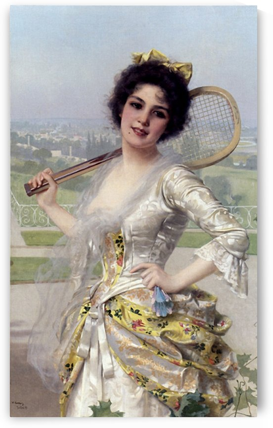 The tennis player by Vittorio Matteo Corcos