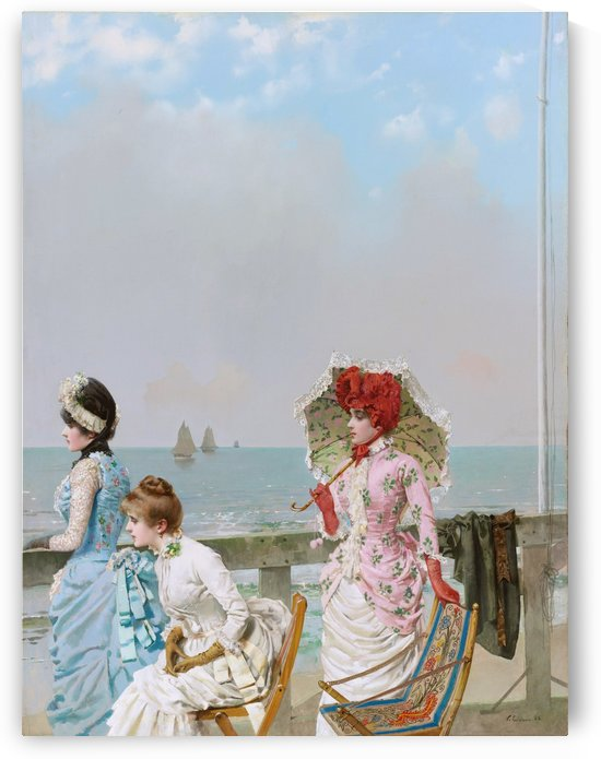 Afternoon at the sea by Vittorio Matteo Corcos
