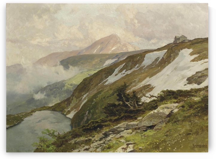 Prinz-Heinrich-Baude, with the Schneekoppe beyond, Poland by Edward Theodore Compton