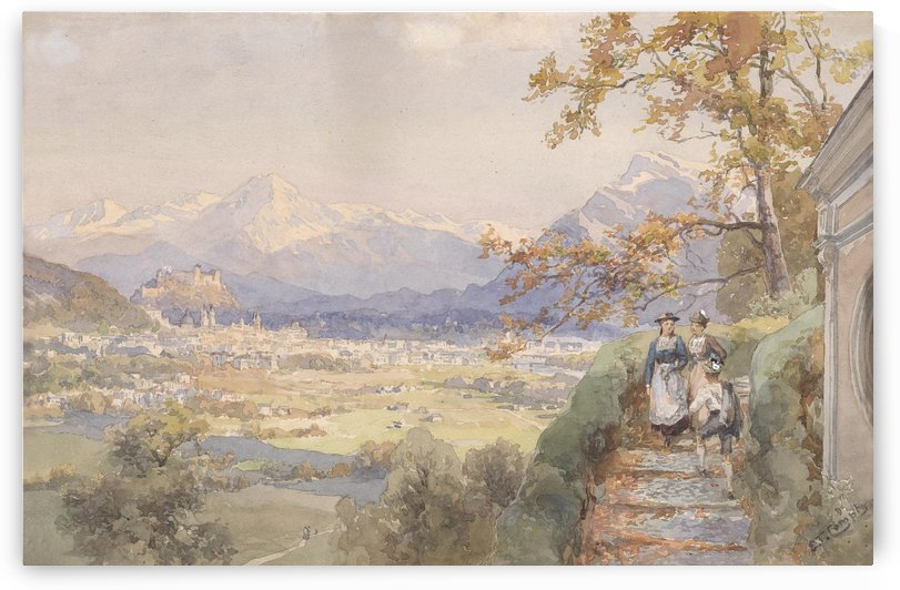 Blick uber die Stadt Salzburg by Edward Theodore Compton