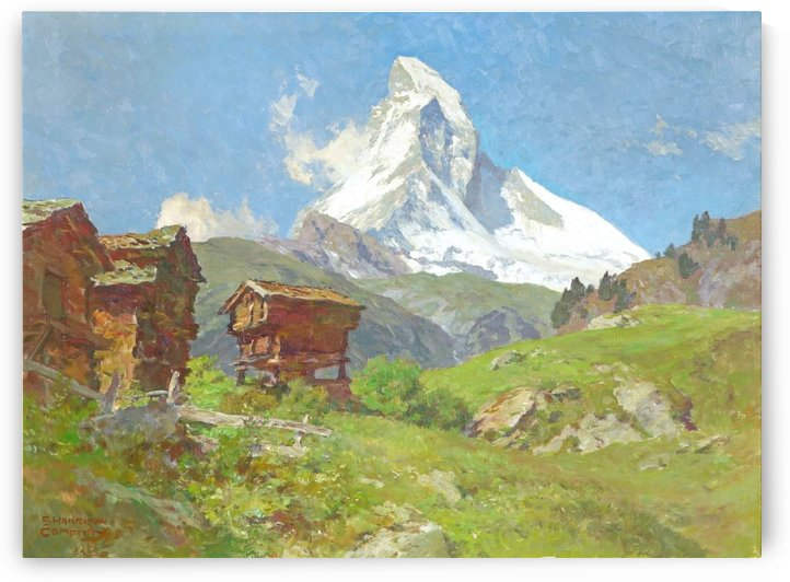 Matterhorn seen from Winkelmatten by Edward Theodore Compton