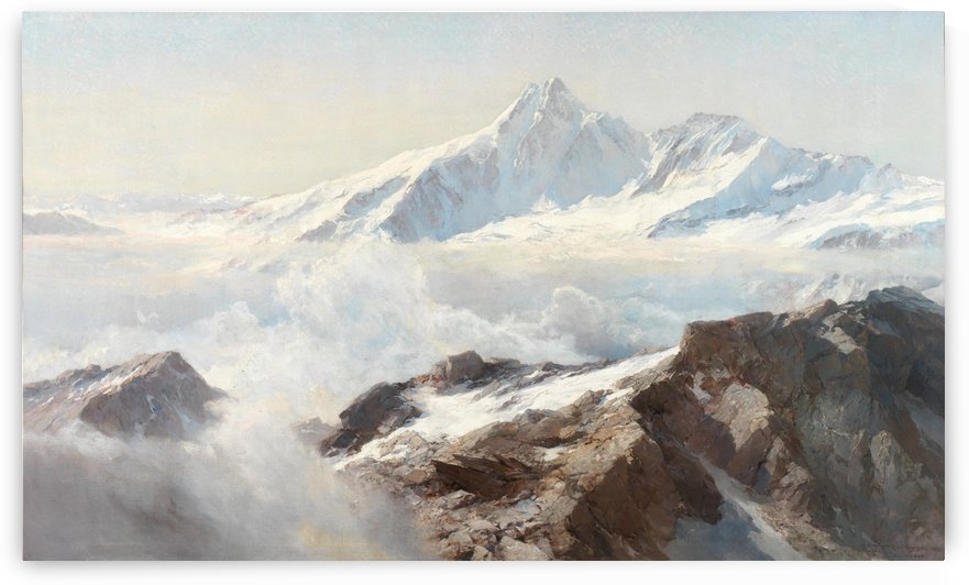 White mountain by Edward Theodore Compton