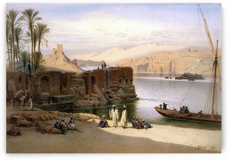 Scene on the Nile by Carl Werner