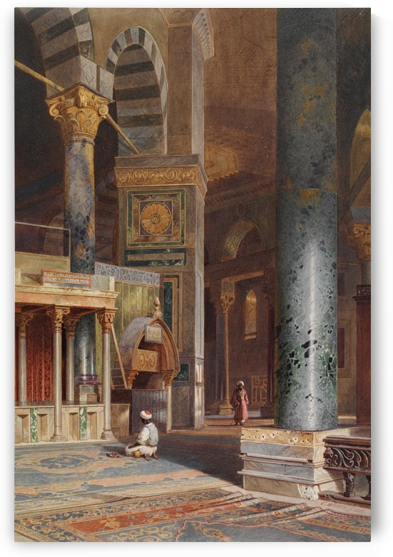 Interior of the Dome of the Rock, Jerusalem by Carl Werner