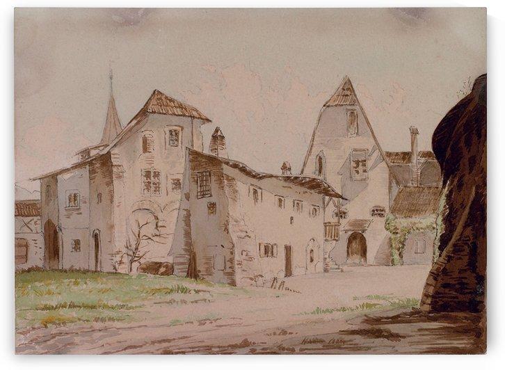 Haus der Margarethe Maultasch in Meran 1892 by Carl Werner