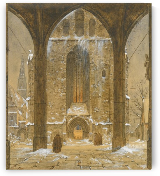 Cloister during Winter by Ernst Ferdinand Oehme
