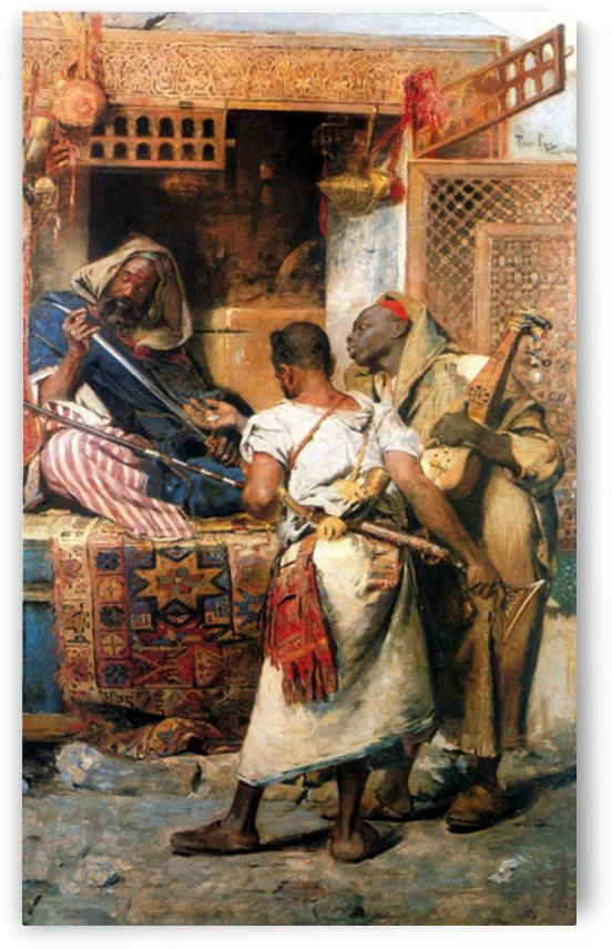 An arms merchant in Tangiers by Gyula Tornai