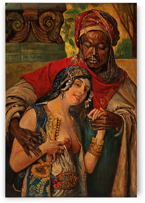 Oriental couple by Gyula Tornai
