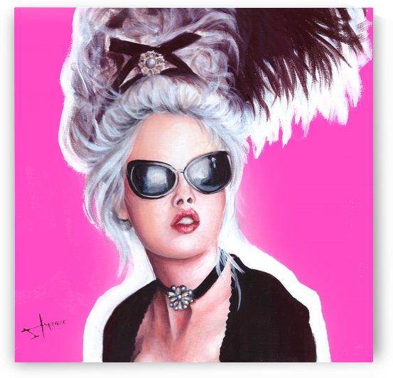 Marie Antoinette inspired art by Salma Nasreldin