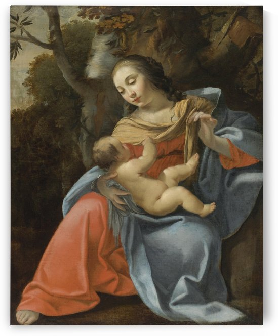 Madonna and Child by Simon Vouet