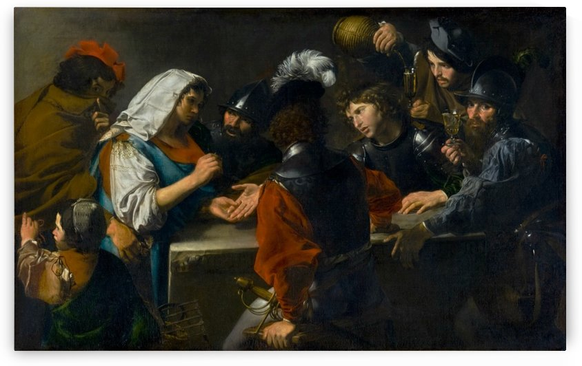 Fortune teller with soldier by Simon Vouet