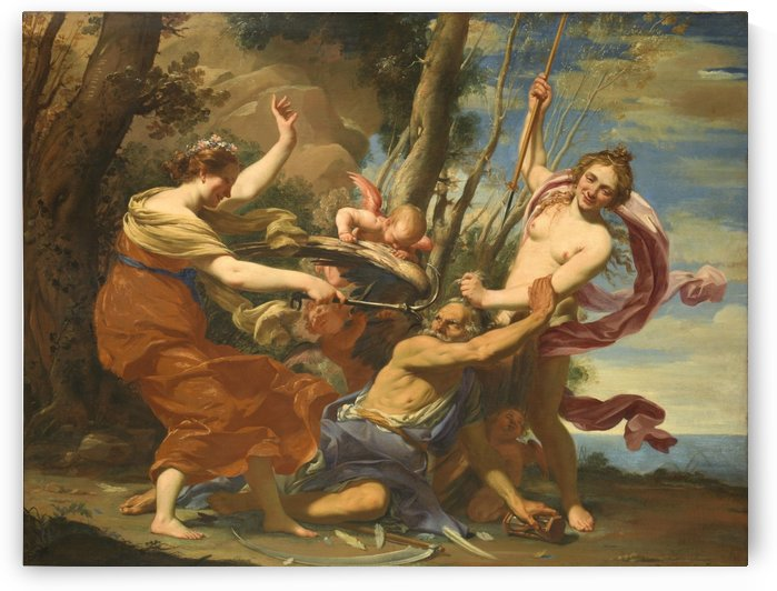 Time defeated by Hope and Beauty by Simon Vouet
