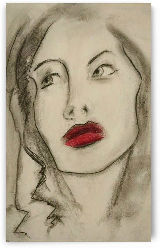 Red lips by Julie Ouellet Pepin