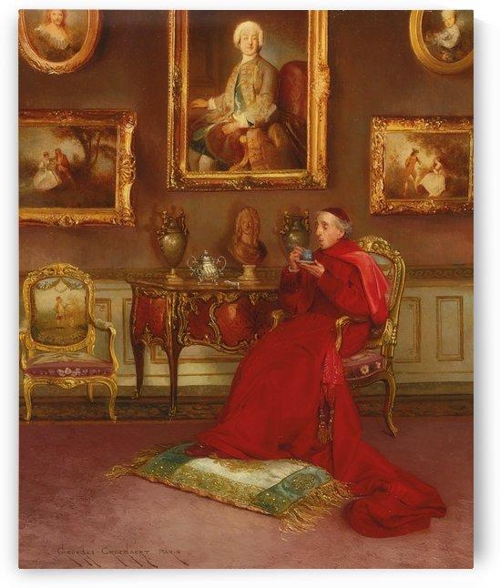 Taking tea by Georges Croegaert