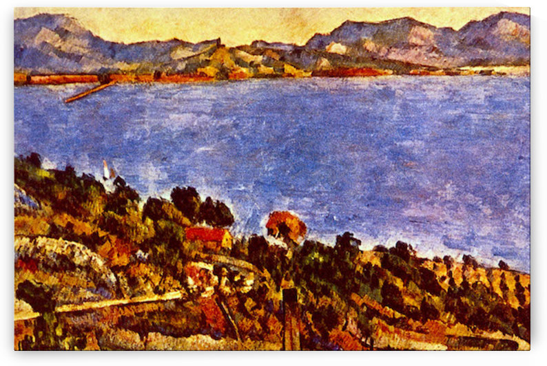 Gulf of Marseille by Cezanne by Cezanne