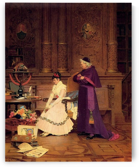 The Reprimand by Vibert Jehan Georges