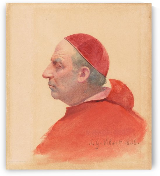 A cardinal in profile by Vibert Jehan Georges