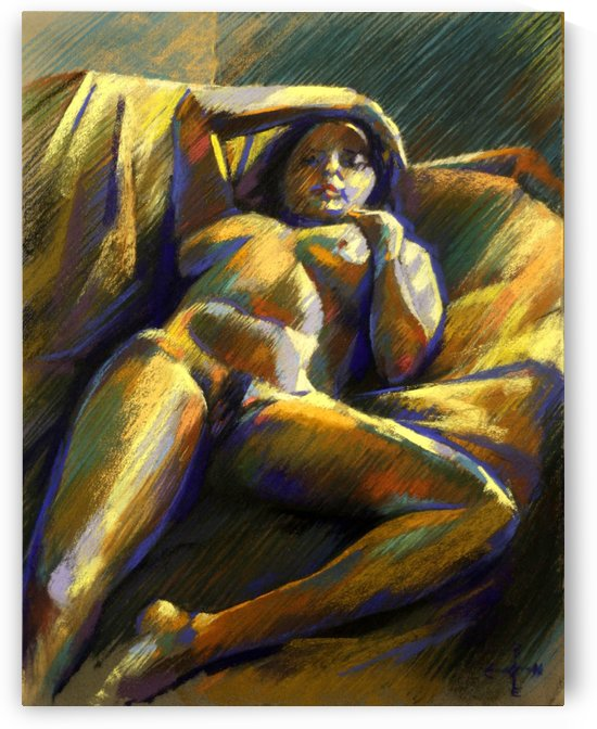 Reclining nude - 28-01-15 by Corné Akkers