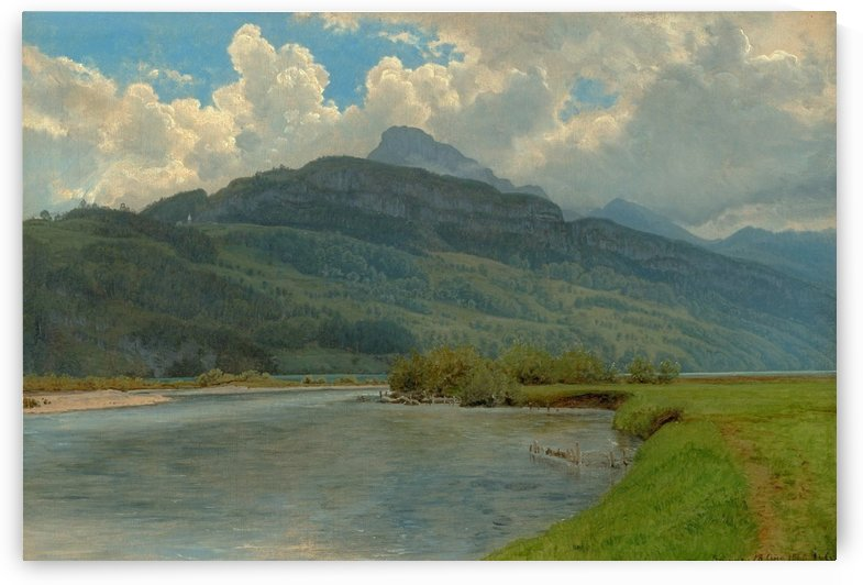 Approaching storm at Brunnen by Janus-Andreas La Cour