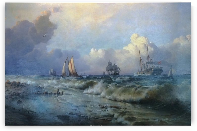 Boats near Oresund by Carl Frederik Sorensen