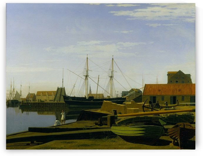 Larsen Square near Copenhagen Harbor by Carl Dahl
