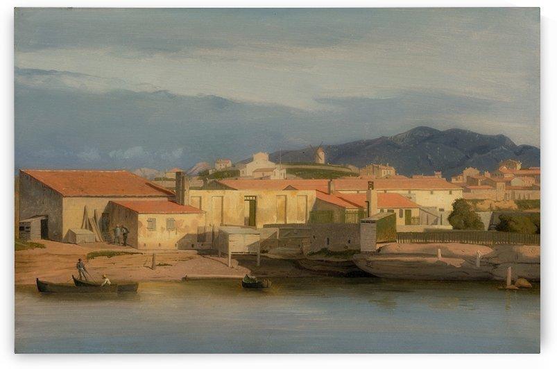 Vue des environs de Marseille by Carl Dahl
