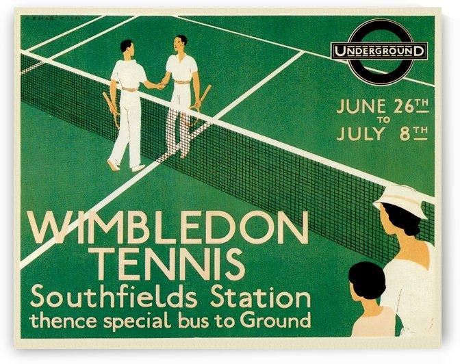 Art Print Wimbledon Tennis Vintage Poster 1933 by VINTAGE POSTER