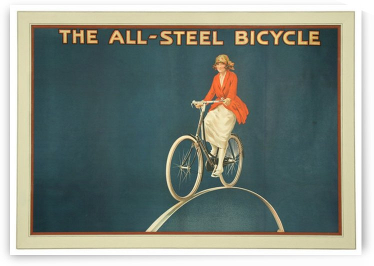 Vintage Cycling Poster for Raleigh Bicycle by VINTAGE POSTER