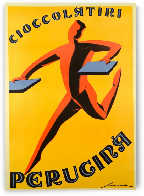 Choccolatini Perugina vintage poster by VINTAGE POSTER