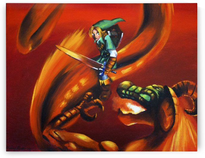 Link vs. Volgagia by Hayley Boothe