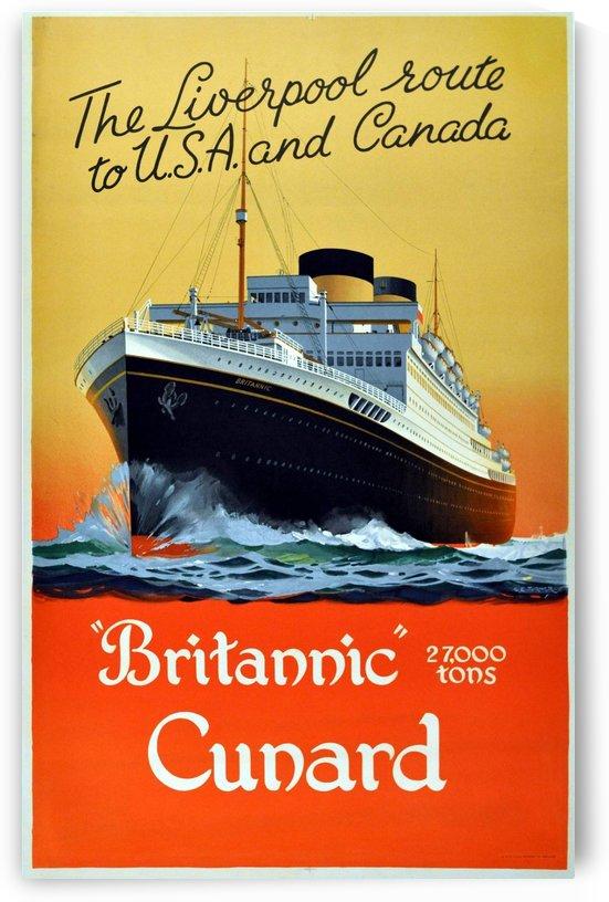 Original vintage poster for Britannic Cunard by VINTAGE POSTER