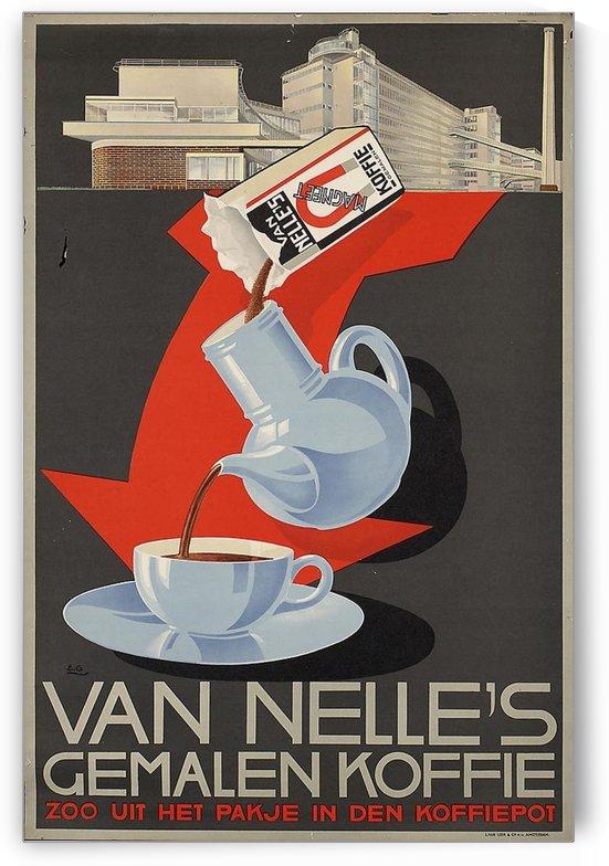 Vintage poster for Van Nelle Germalen Koffie by VINTAGE POSTER