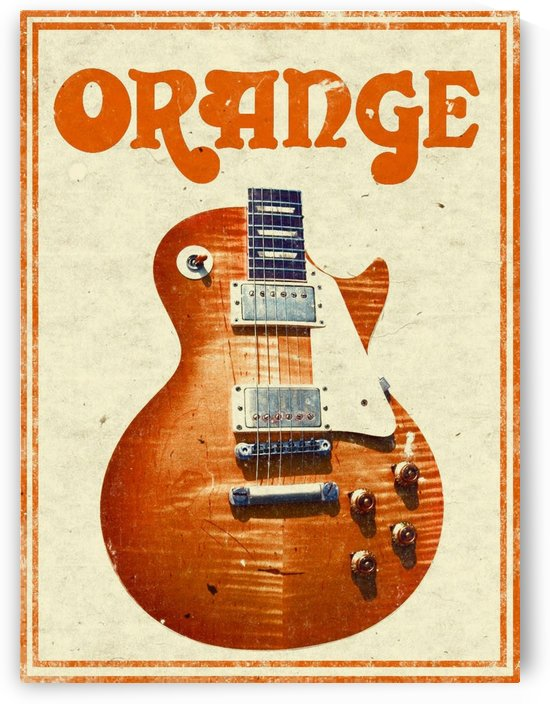 Orange vintage advertising poster by VINTAGE POSTER