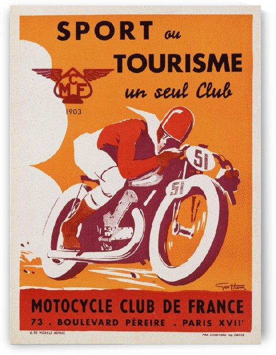 Geo Ham Sport au tourisme moto poster by VINTAGE POSTER
