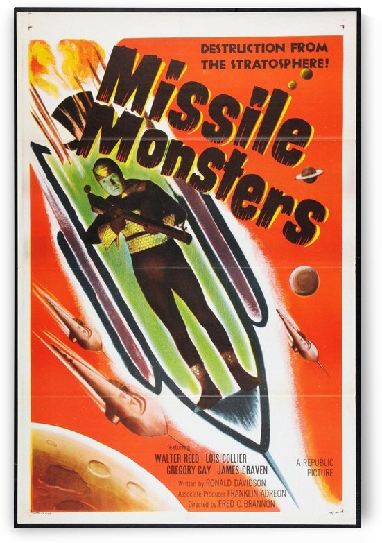 Missile Monsters advertising poster by VINTAGE POSTER