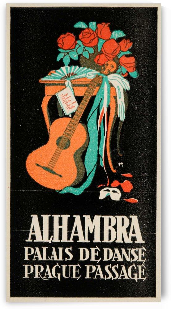 Alhambra vintage travel poster by VINTAGE POSTER