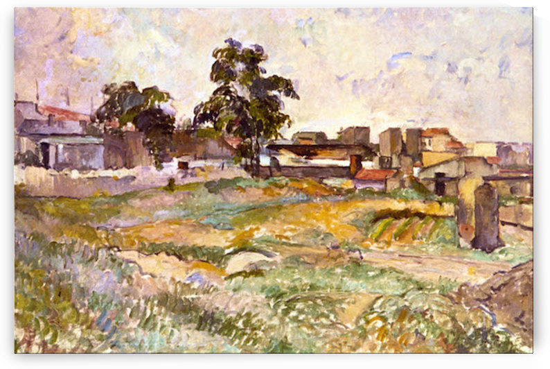 Landscape in Provence by Cezanne by Cezanne