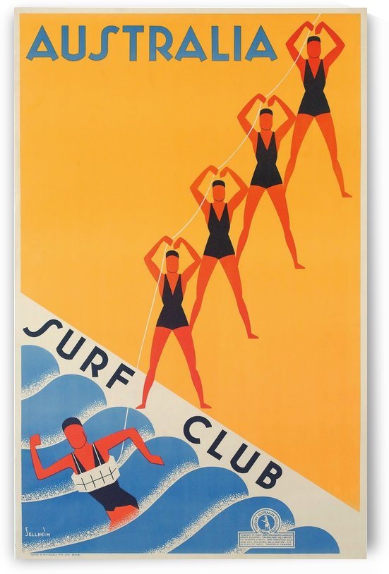 Australia Surf Club poster by VINTAGE POSTER