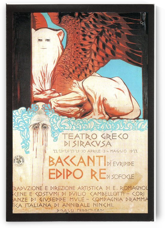 Vintage poster for Teatro Greco di Siracusa by VINTAGE POSTER