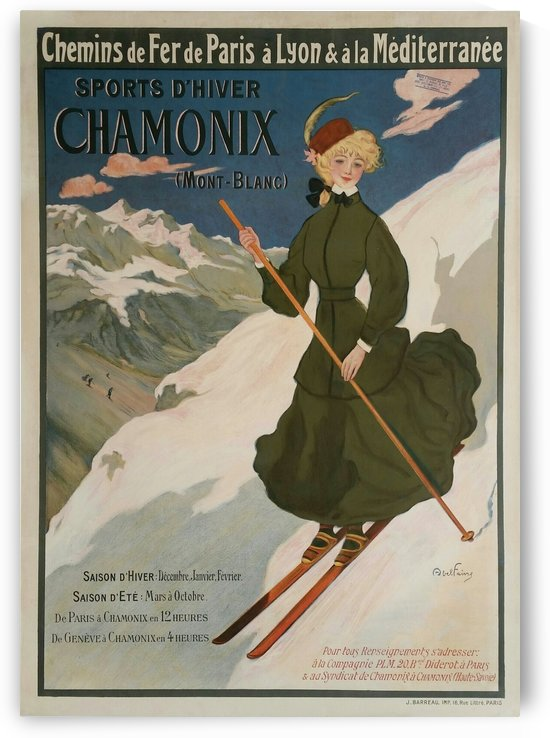Original vintage poster Chamonix Mont-Blanc by VINTAGE POSTER