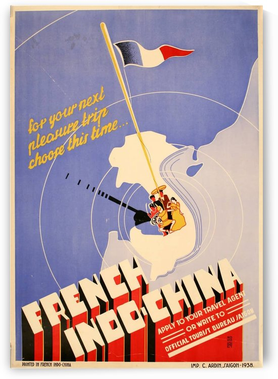 Vintage travel poster for French Indo-China by VINTAGE POSTER