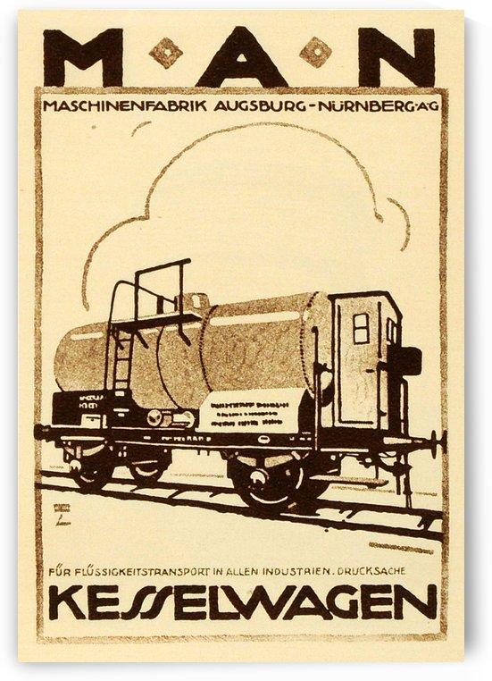 Kesselwagen vintage poster for MAN by VINTAGE POSTER
