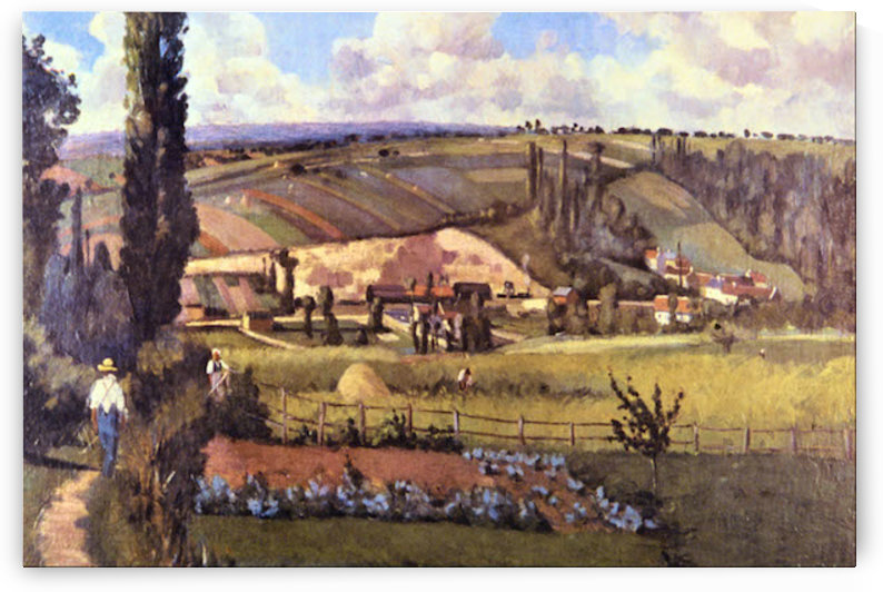 Landscape with Farm Houses by Pissarro by Pissarro