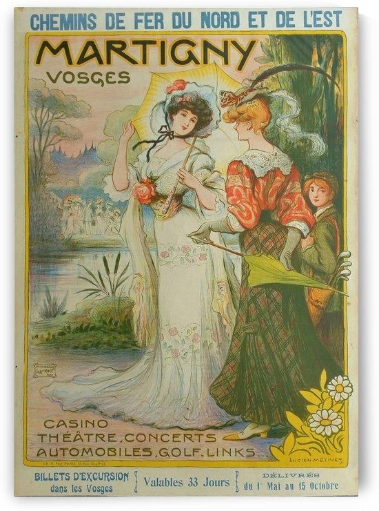 Original vintage poster Martigny Vosges Chemin by VINTAGE POSTER