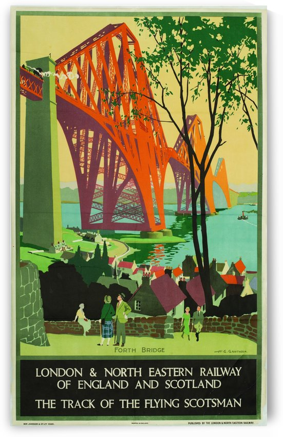 Forth Rail Bridge poster from 1928 by VINTAGE POSTER
