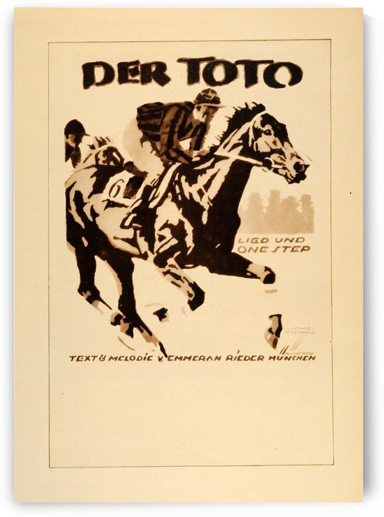 1920 Ludwig Hohlwein Poster Lithographs and Gravures Der Toto by VINTAGE POSTER