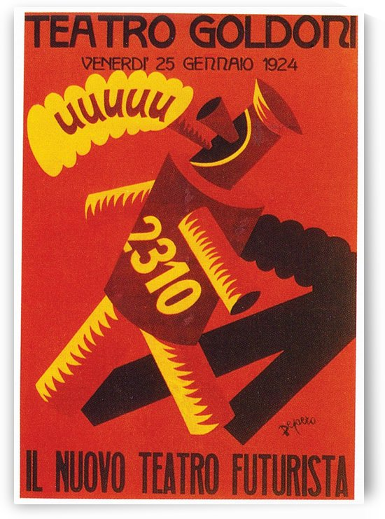 Italian poster for the New Futurist Theatre Company by VINTAGE POSTER