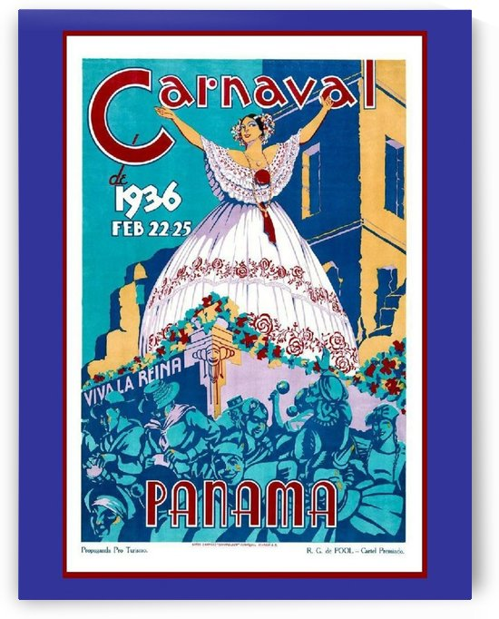 Vintage travel poster for Panama Carnival 1936 by VINTAGE POSTER